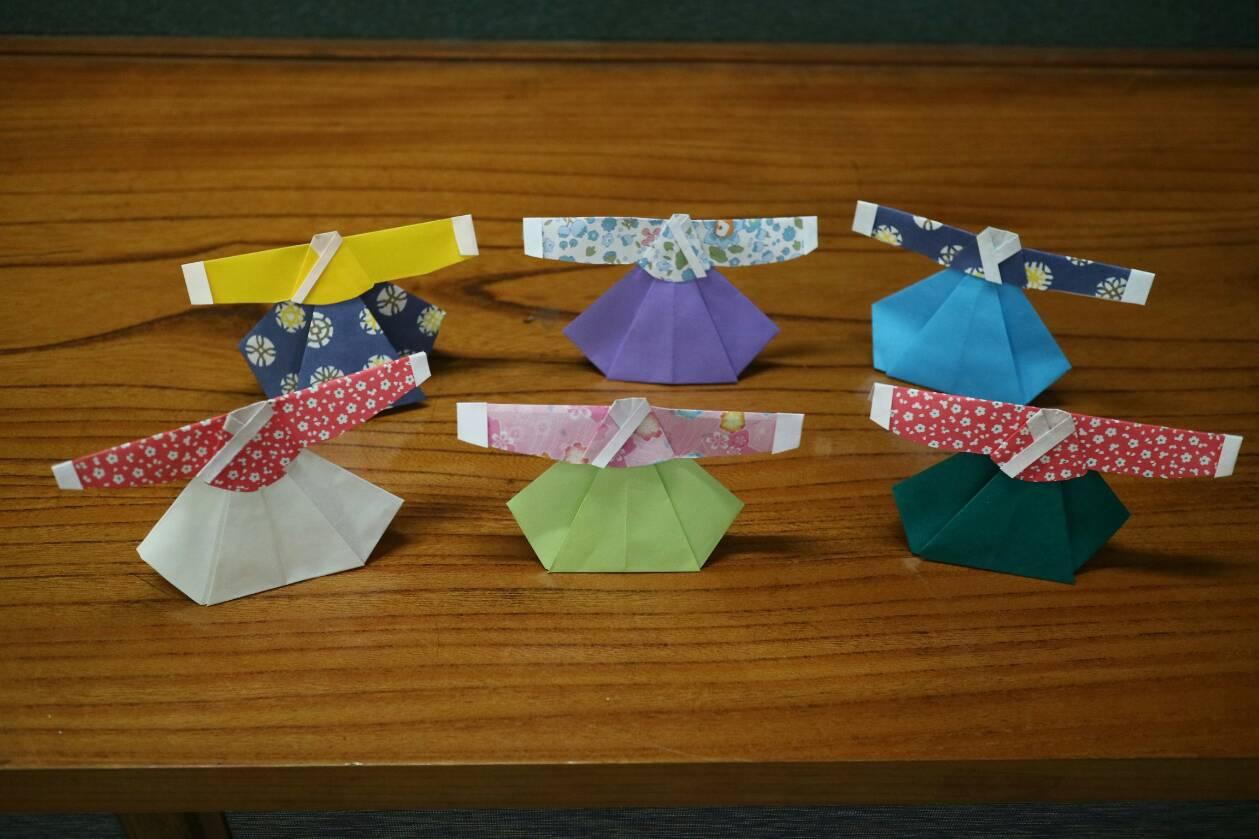 折り紙、チマチョゴリ